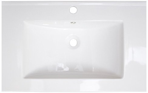 American Imaginations 389 24-Inch by 18-Inch White Ceramic Top with Singe Hole
