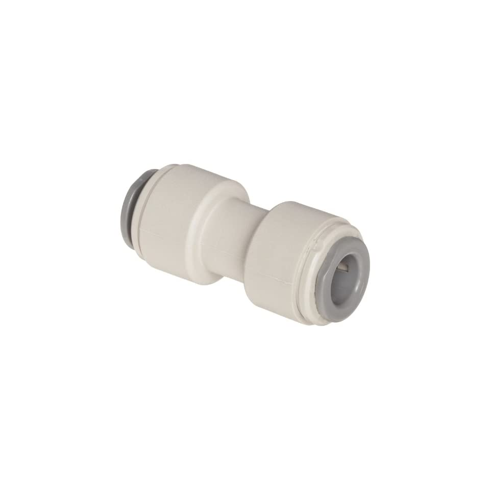 John Guest Acetal Copolymer Tube Fitting, Union Straight Connector, 5/32 Tube OD (Pack of 10)