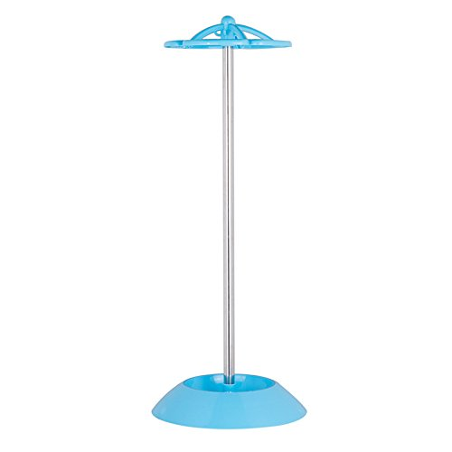 HULISEN Umbrella Stand Rack Free Standing for Canes/Walking Sticks with 5 Hooks, Stuitable for Folding & Long Umbrellas (Blue)