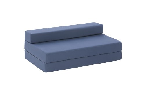 Lyon Double Chair Bed in Mid Blue Cotton Drill
