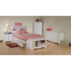 Cheap Kids Bedroom Furniture Set 2 in White – Monterey Collection – Prepac Furniture – MTR-KBSET-2 (MTR-KBSET-2)