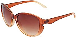 Omnesta Women's Oval Sunglasses (Brown) (PD020)