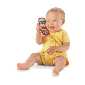 Toy / Game Fabulous Fisher-Price Brilliant Basics Friendly Flip Phone w/ Button To Hear 1 of 3 Ringtones - 1