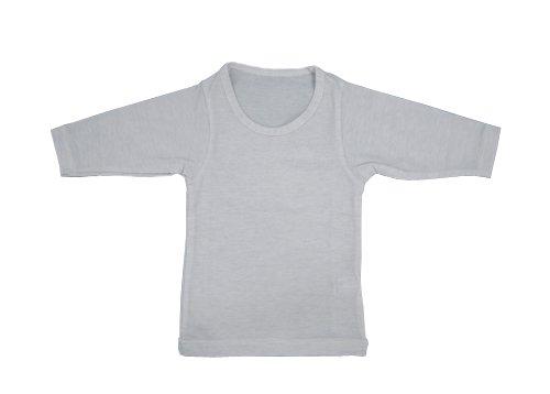 나노 믹스 키즈 긴 소매 셔츠 흰색