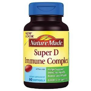 Nature Made Super D Immunity Complex Full Strength Minis, 60 Softgels (Pack Of 2)