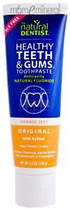 Healthy Teeth & Gums, Anticavity Fluoride Toothpaste, Orange Zest, 5.0 oz (142 g) by Natural Dentist