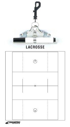 Champro Lacrosse Coach's Board (White, 12 x 9-Inch) (Lacrosse Dry Erase Board compare prices)