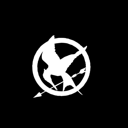 Hunger Games Mockingjay Symbol Car Window Decal Sticker White 4