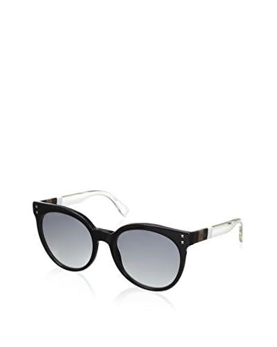 Fendi Women's 0083/S Sunglasses, Black/White/Crystal