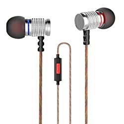 VersionTech In-Ear Wired Headphones Earphones Earbuds Headset with Microphone for iPhone iPad Android Phones Windows Phones MP3 MP4 and Tablets(Silver)
