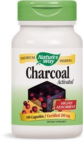 Nature's Way - Charcoal Activated 280 mg 100 cap (Pack of 2) (Nature Way Activated Charcoal compare prices)