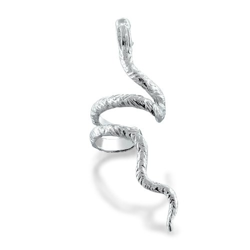 Bling Jewelry Serpent Snake Ear Cuff Right Ear 925 Sterling Silver