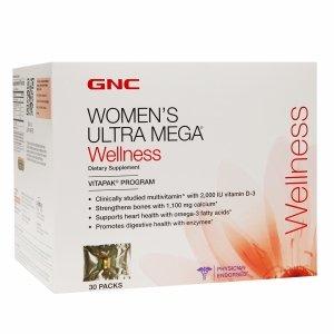Gnc Women'S Ultra Mega Wellness Vitapak Program 30 Ea