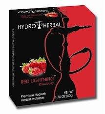 Hydro Herbal 50g Strawberry Hookah Shisha Tobacco Free Molasses Single Pack