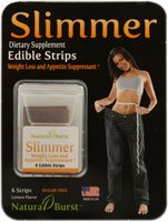 Natural Burst Slimmer Edible Strips Weight Loss and Appetite Suppressant with Green Coffee Bean Lemon Flavor 6 Strip s