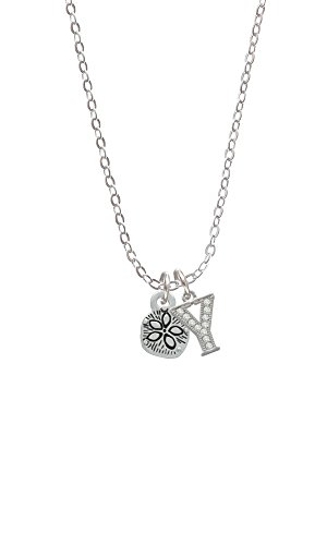Mini Sand Dollar Two Sided Initial - Y - Sophia Necklace