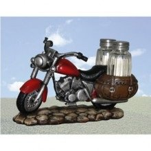 Vintage Red Motorcycle Salt & Pepper Shaker Set