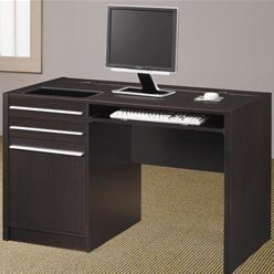 Buy Low Price Comfortable Ontario Contemporary Single Pedestal Computer Desk with Charging Station by Coaster (B0051PEBTA)
