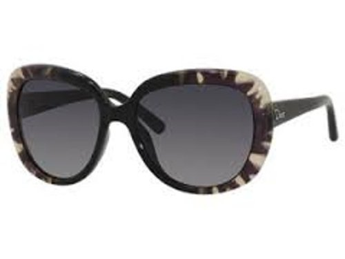 Christian Dior  Dior BPA Flow Black Tiedye1 Round Sunglasses Lens Category 3