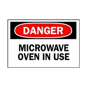 Danger Radiation Sign, 7 X 10In, Eng, Text