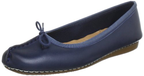 51111d1076522d Clarks Womens Freckle Ice Navy Leather Shoes 4.5 UK