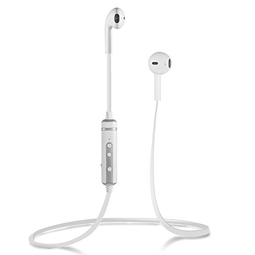 Bluetooth Headphones, INNLIFE V4.1 Wireless Stereo Noise Cancelling Sports Headset with Mic for iPhone 6s Samsung Galaxy S7 and Android Smartphones (white) (Samsung Accesories Headphones compare prices)