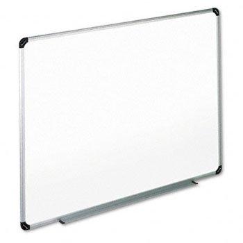 Dry Erase Board, Melamine, 72 X 48, White, Black/Gray Aluminum/Plastic Frame