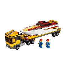 LEGO City Power Boat Transporter 4643 (Lego Trucks With Trailer compare prices)