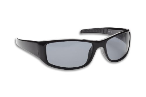 Fisherman Eyewear Sailfish Original Polarized Sunglasses (Black Frame, Gray Lens)