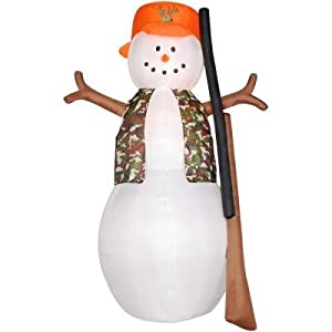 8ft Airblown Inflatable Hunting Snowman