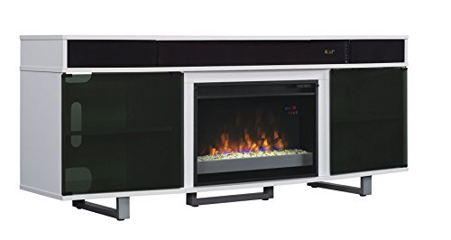ClassicFlame 26MMS9626-NW145 Enterprise TV Stand with Speakers for TVs up to 80