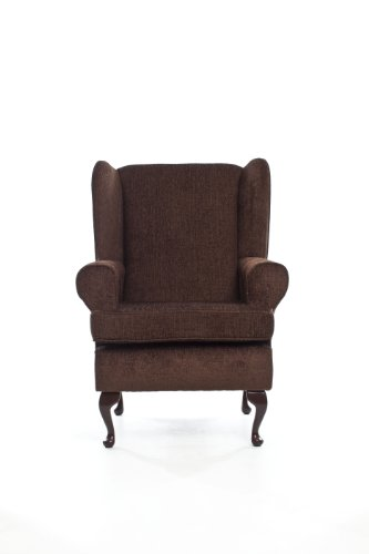 """Orthopedic High Seat Chair (21"""" SEAT HEIGHT) For the Elderly or Infirm- BROWN - OUR BEST SELLER! Firm and comfortable, ideal for the disabled, immobile or people recovering from an operation or accident - ALSO IN GREEN, PLUM AND BEIGE"""