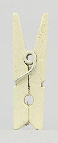 Déco-Sono - 20 mini pinces à linge ivoire