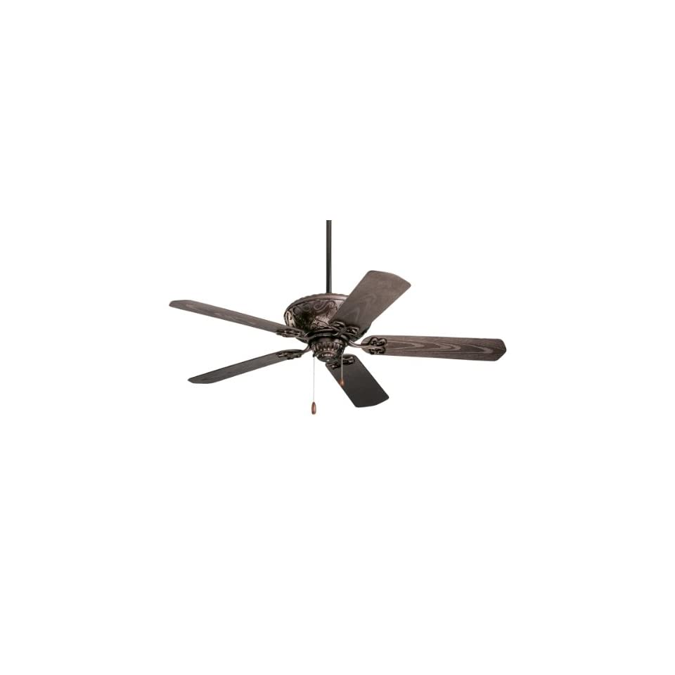 "Emerson CF670ORB Oil Rubbed Bronze Devonshire 5 Blade 52"" Devonshire Outdoor Ceiling Fan   All Weather Blades Included"