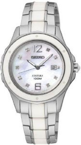 Seiko Women's SXDE85 Coutura Mother-of-Pearl Watch