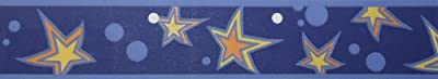 A.S. Création Self-Adhesive Borders, Stars, Blue-Orange-Yellow from A.S. Creation