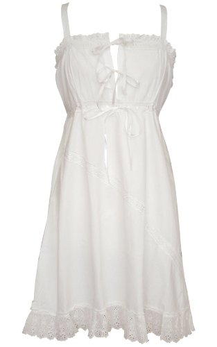 White Cotton Nightdress - Mia