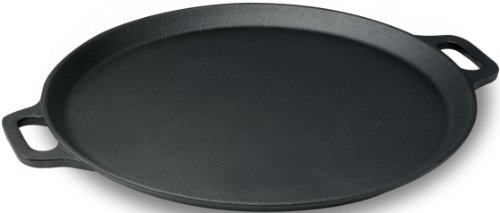 Emeril Pre-Seasoned Cast Iron Pizza Pan / Round Griddle, 13-Inch, Black (Tfal 13 Inch Griddle compare prices)