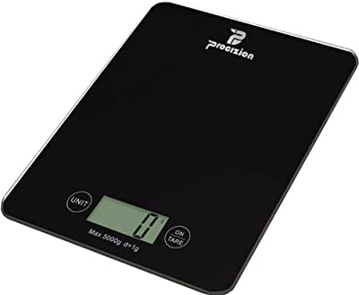 Digital Kitchen Food Scale Best Quality Electronic Accessory for Accurate and Precision Weighing in Grams Ounces Lbs or Kg Measures up to 11 Lbs. Perfect Product for Weight Watchers and Diet-conscious. Compact Gadget Large LCD Durable Tempered Glass.