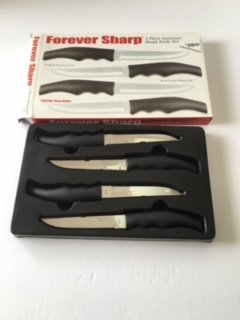 Forever Sharp 4 Piece Gourmet Steak Knife Set