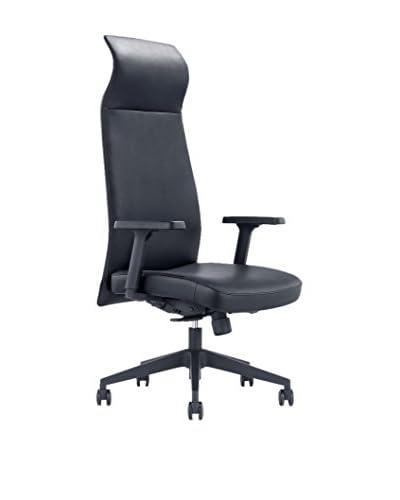 Whiteline Columbia Executive High Back Office Chair, Black