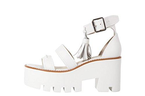 Windsor Smith Toughy Platform Sandal White with tassel - Sandali carrarmato bianchi con nappa