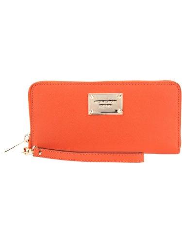 MICHAEL Michael KorsMichael Kors Continental Zip Around Iphone Wallet Wristlet Burnt Orange