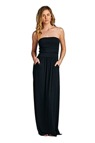 Vanilla Bay Solid Maxi Dress,Large,Black
