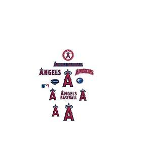 MLB Los Angeles Angels of Anaheim Team Logo Assortment Fathead Jr. Wall Decal by Fathead
