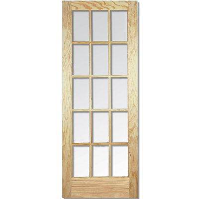 LPD Door, Interior Internal Door, Un-Finished Pine Bevelled Glazed - SA Clear - 80