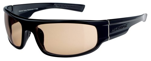 Ryders Eyewear Tarmac Photochromic Sunglasses, Gloss Black Frame/Brown Lens