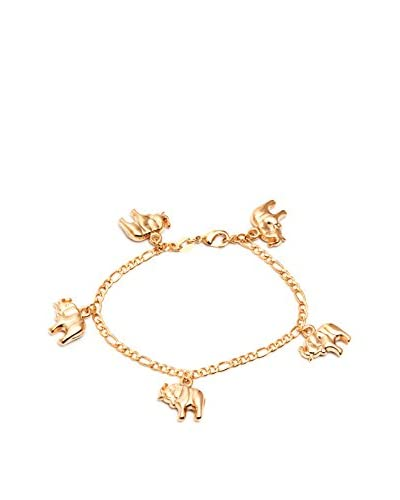 Sevil 18K Gold-Plated Elephant Charm Bracelet