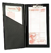 Guest Check Accessories, Large Book Style Check Holder (Restaurant Check Pad compare prices)