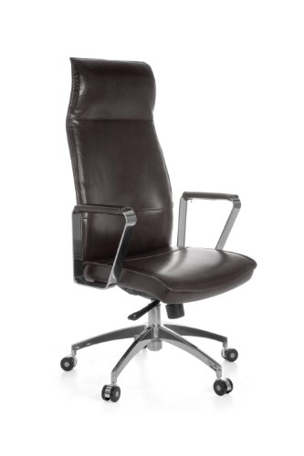 Amstyle Verona XXL Director's Office Chair with 5-Point Synchro Mechanism up to 150 kg Load Brown
